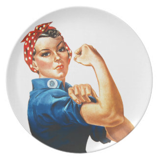 We Can Do It Rosie the Riveter Women Power Plate