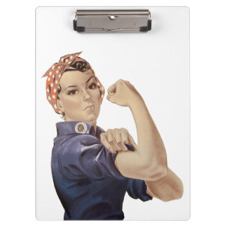 We can Do It Rosie The Riveter WW2 Clipboard