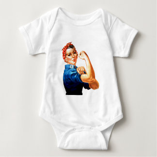 We Can Do It Rosie the Riveter WWII Propaganda Baby Bodysuit