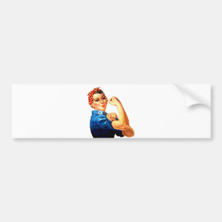 We Can Do It Rosie the Riveter WWII Propaganda Bumper Sticker