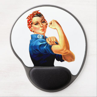 We Can Do It Rosie the Riveter WWII Propaganda Gel Mouse Pad