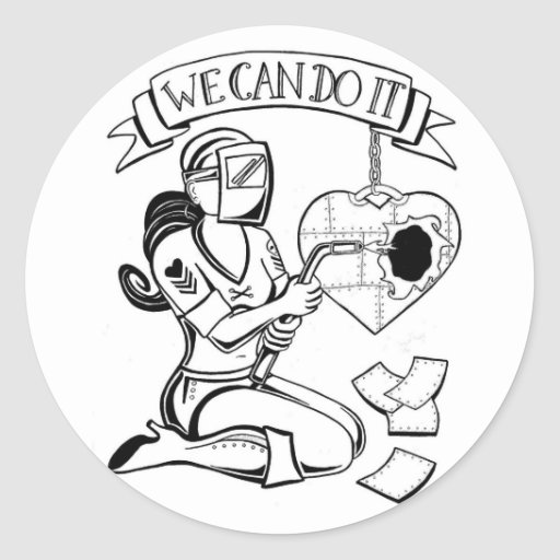 We Can Do It Sticker by Rebel Lady