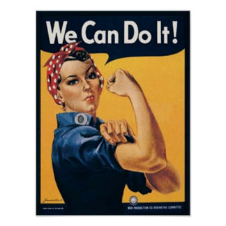 We Can Do It Vintage Ad Poster