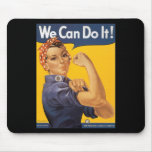 We Can Do It! Vintage War Poster Woman Mousepads