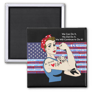 We Can Do It, We Did It, Patriotic Women Magnet