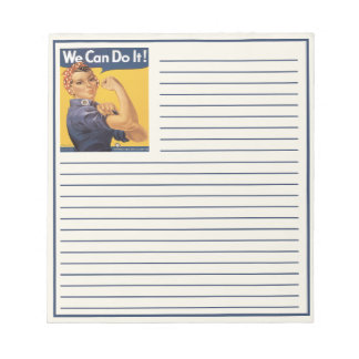 We Can Do It With Rosie Notepad