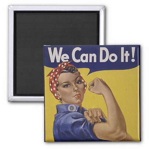 We Can Do It! Women's History Refrigerator Magnets
