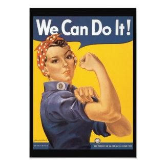 """We Can Do It World War 2 5"""" X 7"""" Invitation Card"""