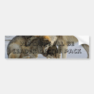 We Can't All Be Leader of the Pack Bumper Sticker
