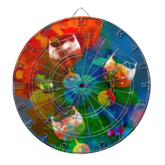 We celebrate the life in full colors dartboard