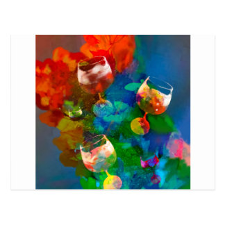 We celebrate the life in full colors postcard