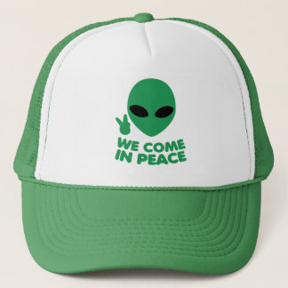 We Come In Peace Alien Trucker Hat