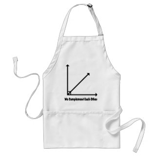 we complement each other standard apron