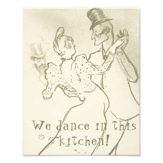 We dance in this kitchen | Lautrec, Dancing couple Photo Print