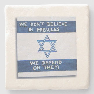We Depend On Miracles Stone Coaster