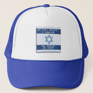 We Depend On Miracles Trucker Hat
