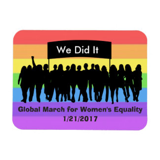 We Did It, American Flag March for Women Rectangular Photo Magnet
