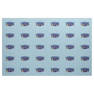 We Did It Class 20XX Blues Graduation Fabric
