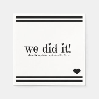 We Did It Disposable Napkin