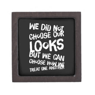 We did not choose our looks but we can choose how premium keepsake box