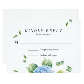 We Do Eucalyptus Hydrangea Garden RSVP Card