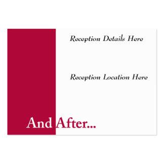 We Do Wedding Reception Card Business Card Template