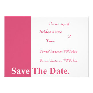 We Do Wedding Save The Date Card (Honeysuckle) Personalized Invite