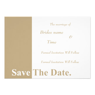 We Do Wedding Save The Date Card (Khaki) Personalized Invitations