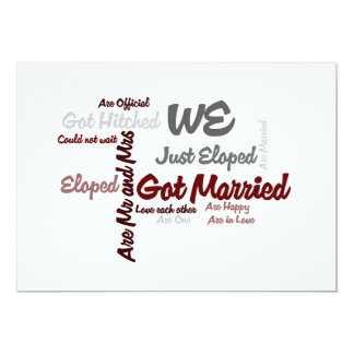 We Eloped | Got Married Word Cloud Card