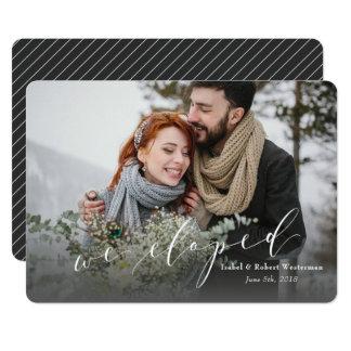 WE ELOPED (PINSTRIPE BACKER) CARD
