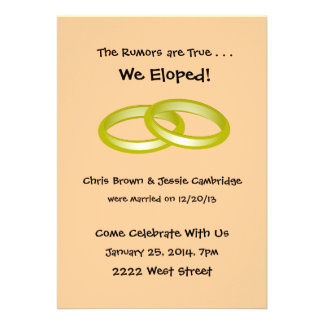 We Eloped Cards Photocards Invitations Amp More