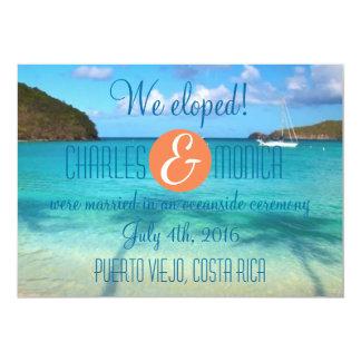 We Eloped Wedding Announcement/Reception Invite