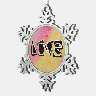 We Feed On What Is In Our Garden. Snowflake Pewter Christmas Ornament