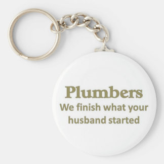 We finish what your husband started keychain