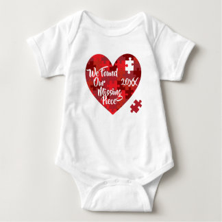 We Found Our Missing Piece - Puzzle Heart Baby Bodysuit
