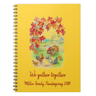 We Gather Together: Personalized Thanksgiving Spiral Notebook