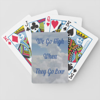 'We Go High' Quote Unusual Cloud Formation Bicycle Playing Cards