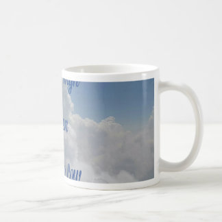 'We Go High' Quote Unusual Cloud Formation Coffee Mug