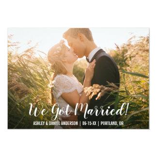 We Got Married Elopement Announcement Card WB