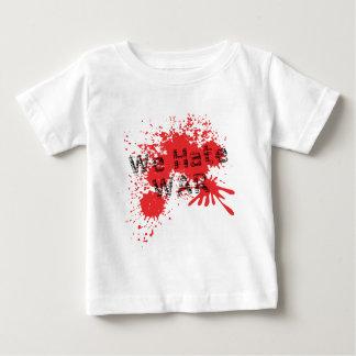 We Hate War Baby T-Shirt