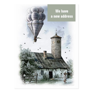 We have a new address - Postcard invitation