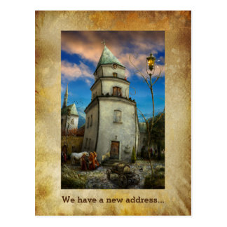 We have a new address - Unique Postcard invitation