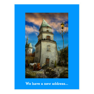 We have a new address - Unique Postcard invitation
