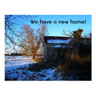 """We Have A New Home"" Change of Address Postcard"