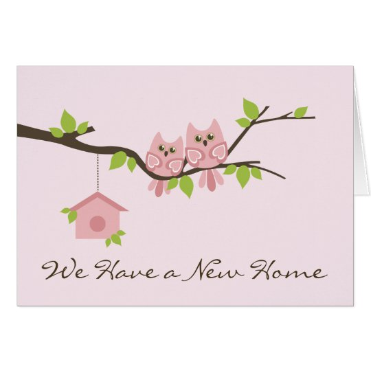 We Have a New Home greeting card