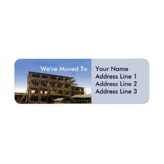 We Have Moved Address Change Sheets of Avery Label Return Address Label