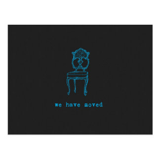 We Have Moved Chalkboard Colored Postcard