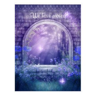 We have moved Charmed Woodlands Postcard