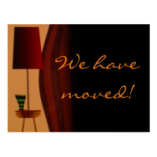 We have moved - customisable postcard