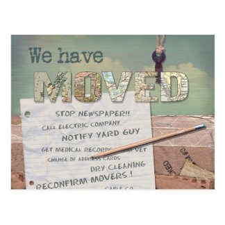 We Have Moved personalized postcard